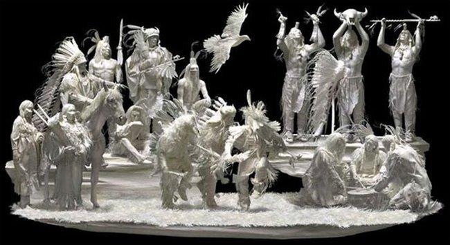 Скульптуры из бумаги (15 фото)