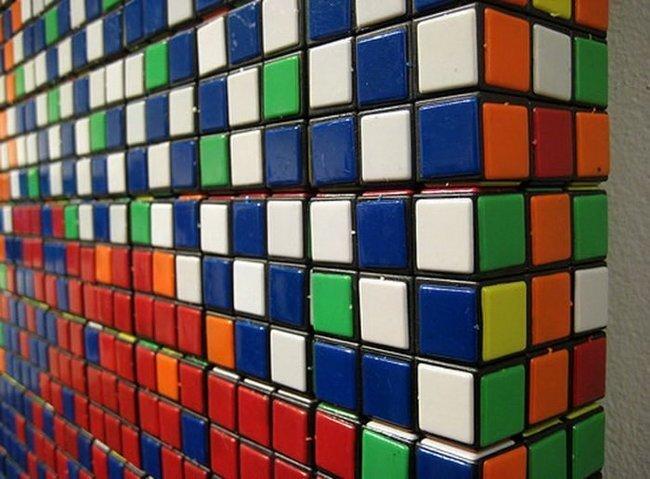 Картины из кубиков-рубиков (7 фото)