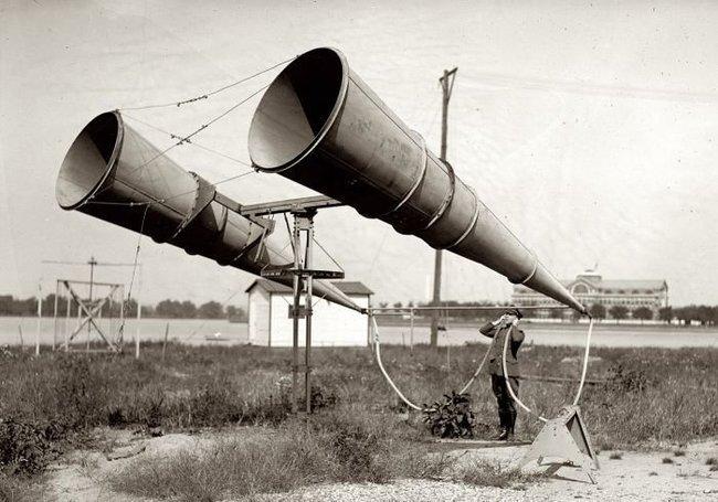 Акустические локаторы времен Первой Мировой Войны (21 фото)