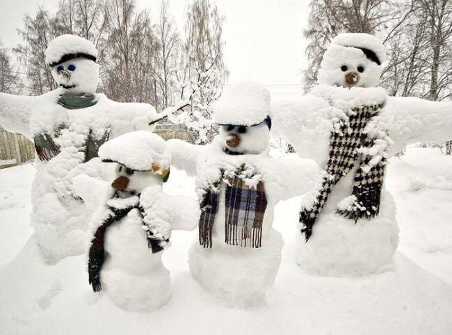 Снеговики (21 фотография)