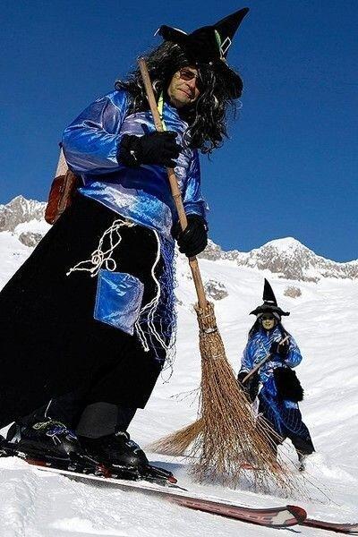 Ведьмы на лыжах (5 фото)