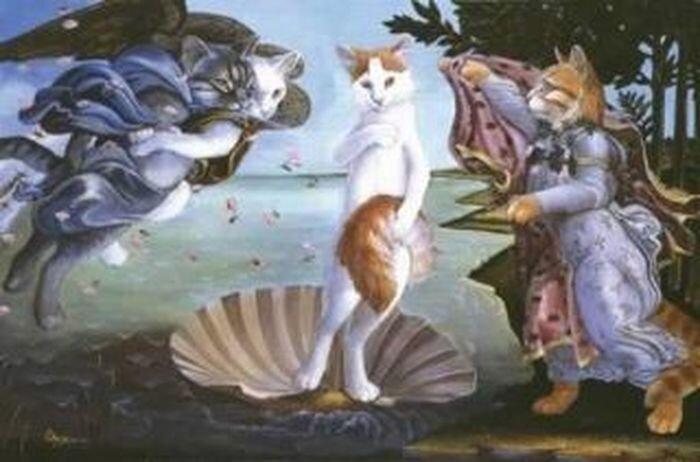Кошки на картинах (8 фото)