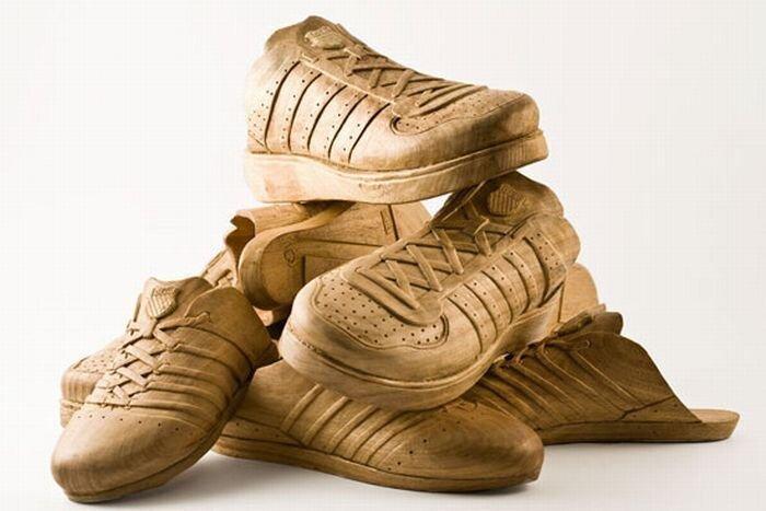 Ботинки из дерева (6 фото)