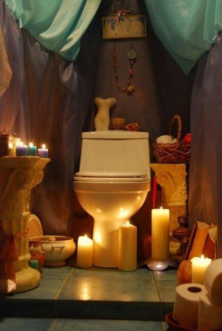 Будуар в туалете (9 фото)