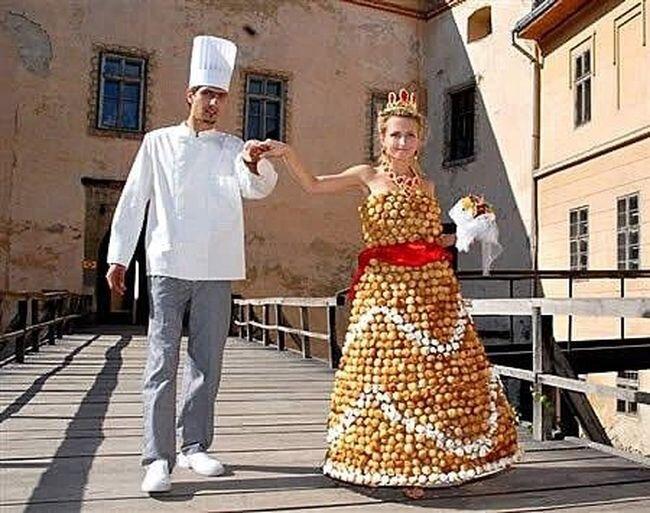 Необычные свадебные платья (12 фото)