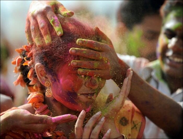 Холи: фестиваль красок (29 фото)