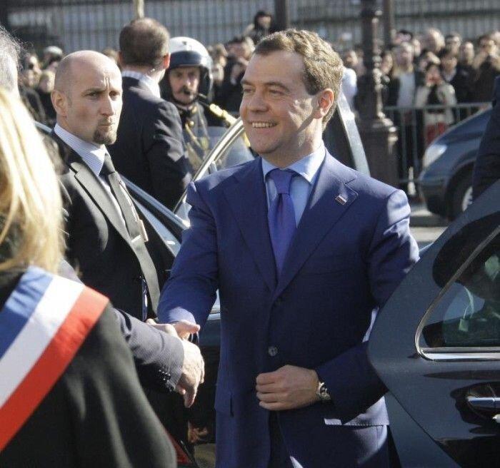 Визит президента Медведева в Париж (19 фото)