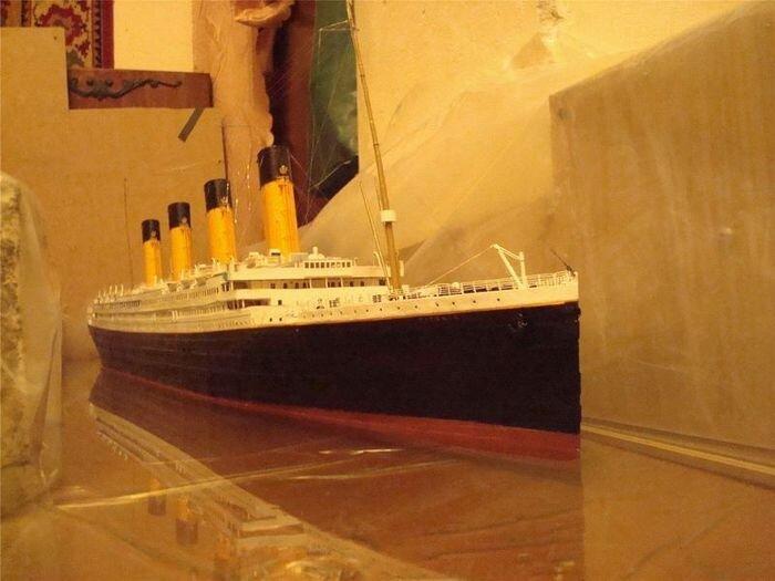 Титаник - полностью бумажная модель 1:200 (29 фото)