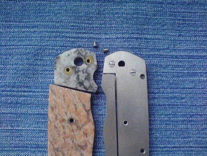 Каменный складной ножик (17 фото)
