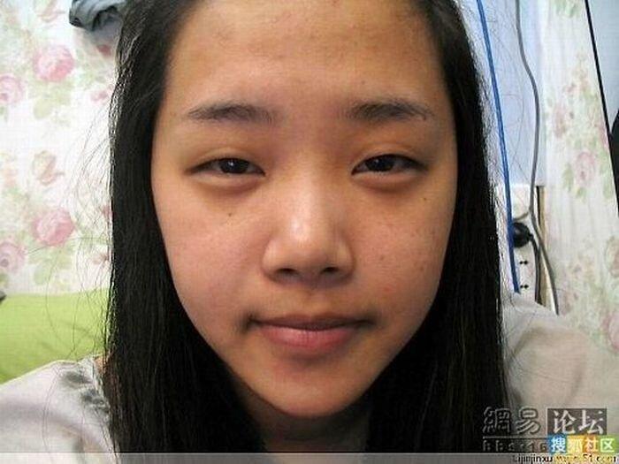 Чудеса китайского макияжа. Часть 3.  (13 фото)