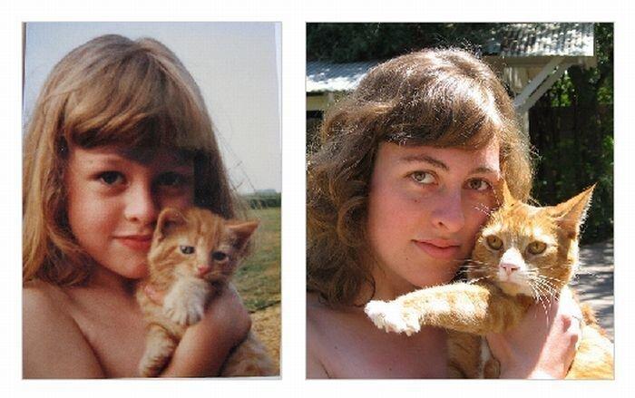 Сравнение людей в детстве и сейчас (49 фото)