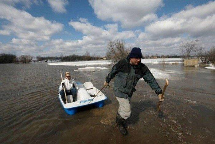 Наводнение в штате Северная Дакота (19 фото)