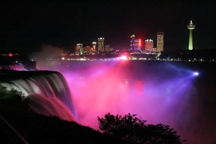 Ночная съемка ниагарского водопада (13 фото)