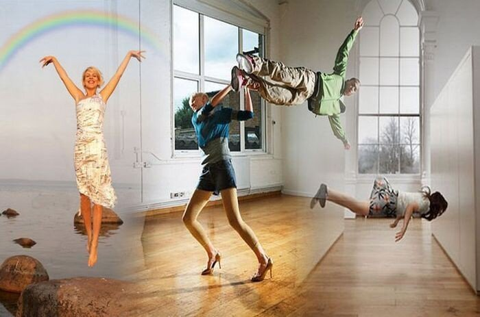 Интересные фотографии. Летающие люди (23 фото)