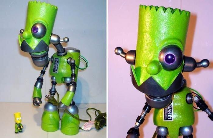Крутые скульптуры - роботы (20 фото)