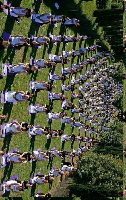 Новый мировой рекорд синхронного массового массажа (3 фото)