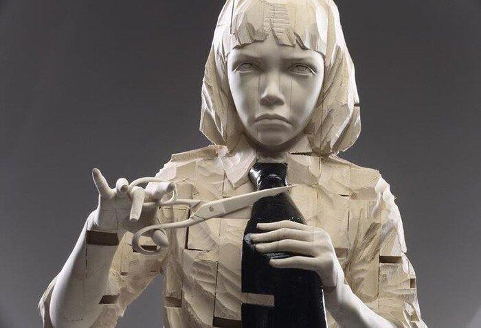 Деревянные скульптуры Gehard Demetz (9 фото)