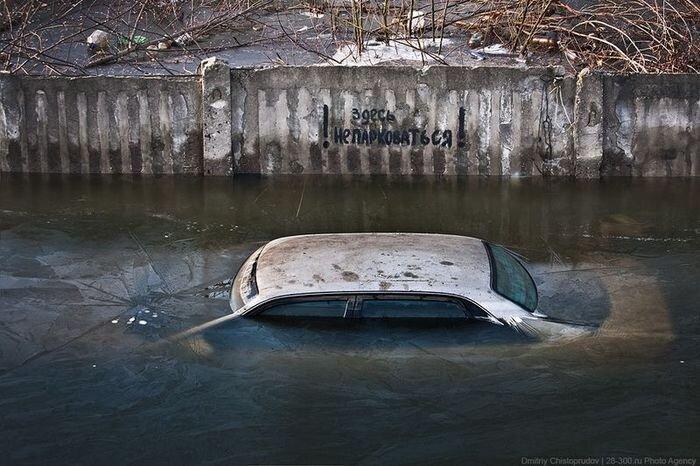 Гаражный потоп (12 фото)