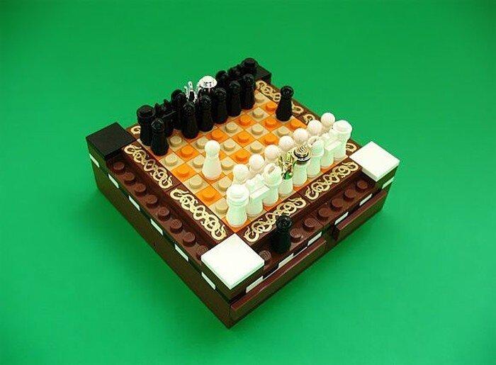 Лего-шахматы (2 фото)