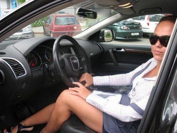 Русские девушки за рулем (69 фото)