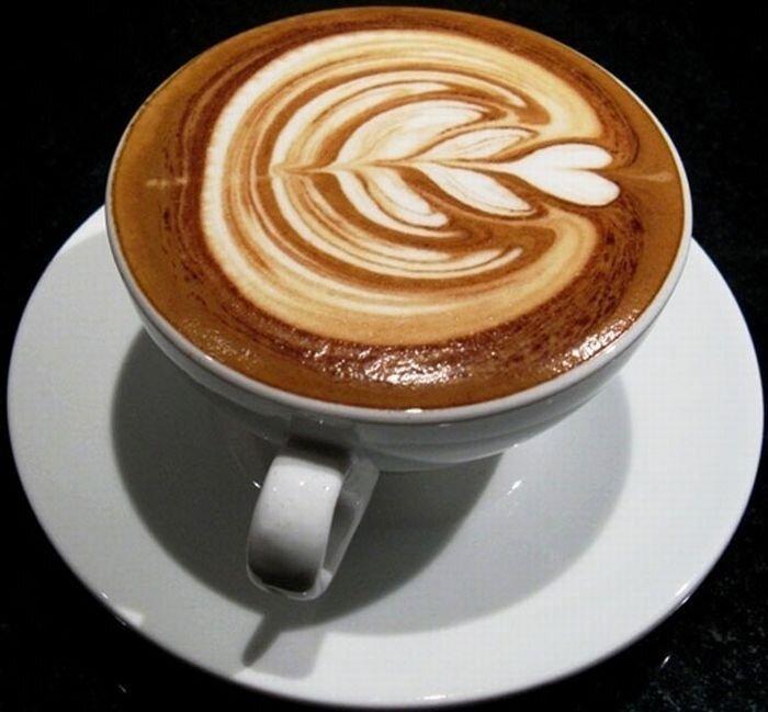 Красивая пенка на кофе (49 фото)