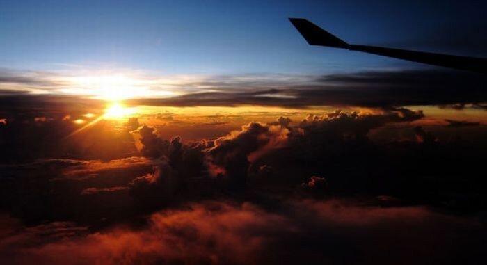 Вид из окна самолета (5 фото)