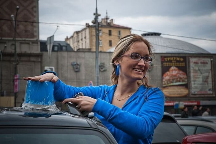 Московские автолюбители протестовали против мигалок (90 Фото + 2 видео)