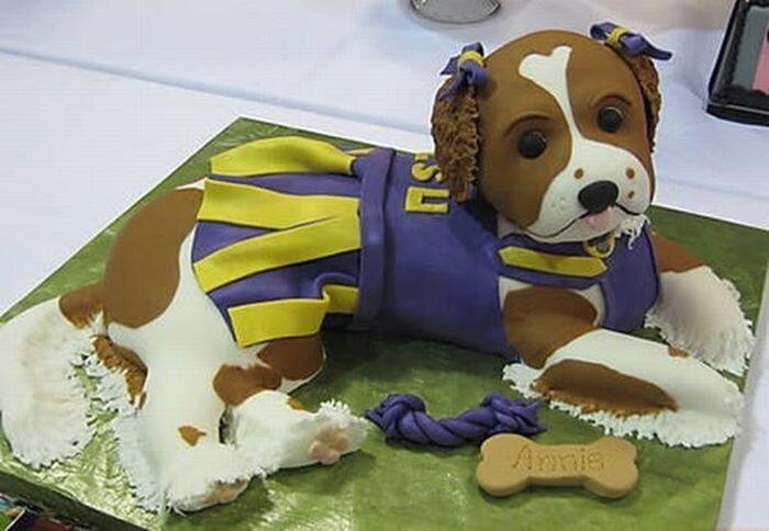 Тортики в виде собак (12 фото)