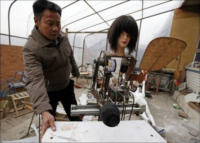 Роботы китайского изобретателя (12 фото)