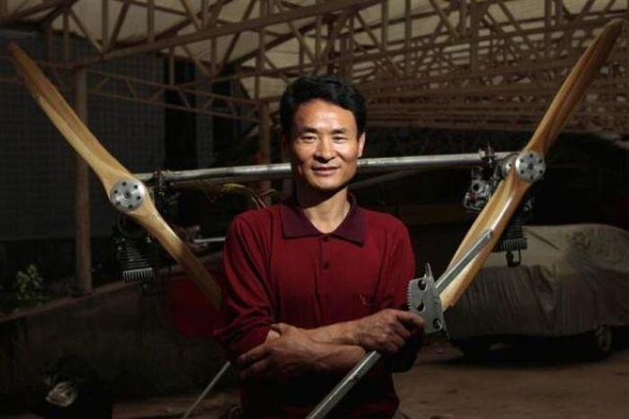 Фермер из Китая построил самолет своими руками (35 фото)