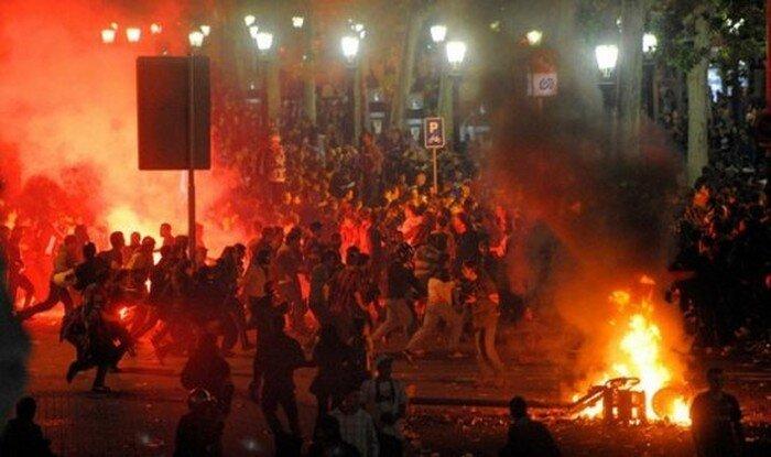 Погром в Испании (10 фото)