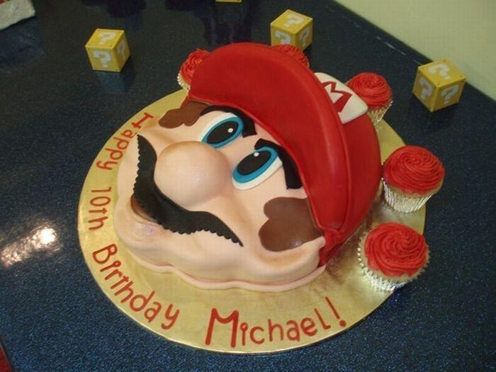Торты в стиле Марио (50 фото)