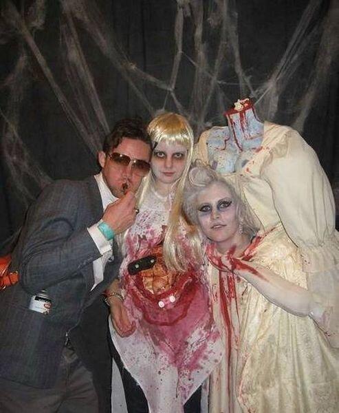 Необычный костюм на Хэллоуин (17 фото)