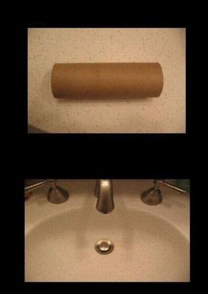 Прикол с картонкой из под туалетной бумаги (10 фото)