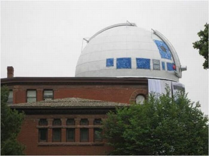 Обсерватория, превращённая в гигантского R2D2 (6 фото + видео)