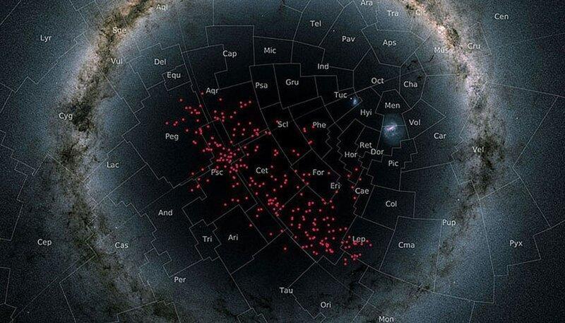 Гигантский звездный поток в ближайшем космическом соседстве от нас