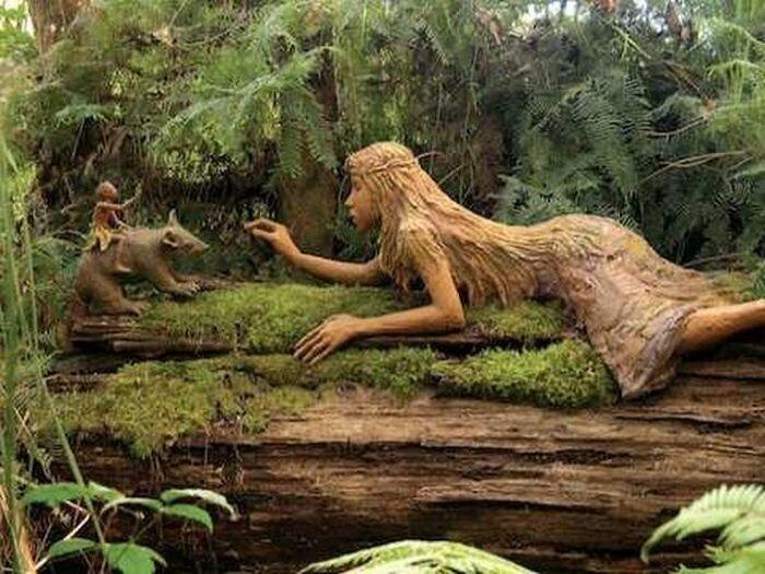 Сад деревянных скульптур  (32 фото)