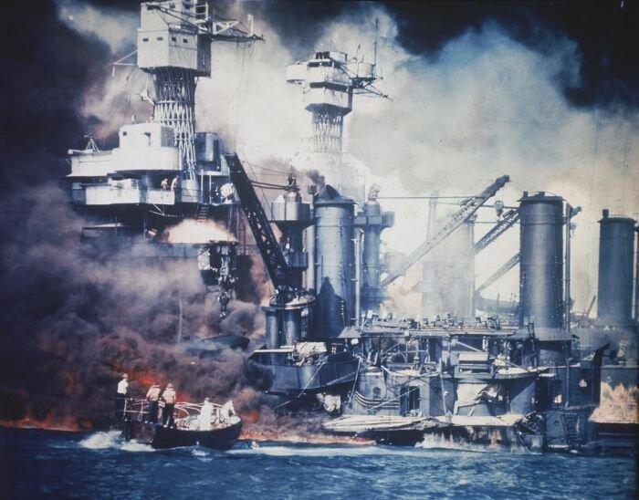 Архивные фотографии Второй Мировой Войны в Тихом океане (104 фото)
