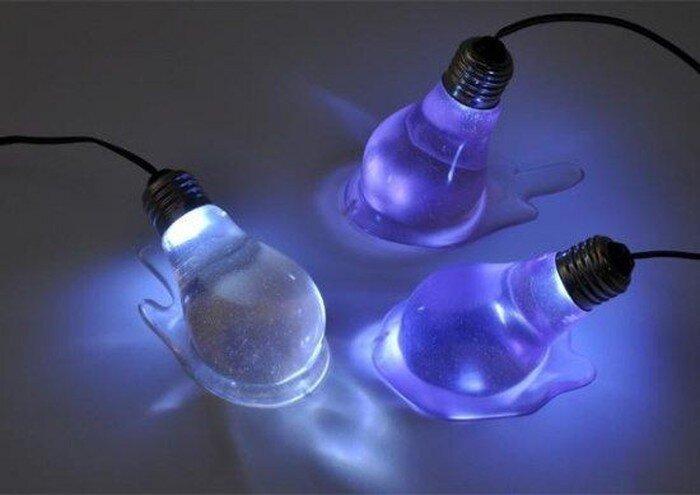 Свет расплавленной лампы  (3 фото)