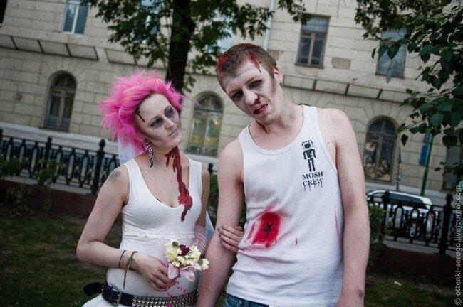 Торжественное зомбосочетание в Грибоедовском ЗАГСе (46 фото)