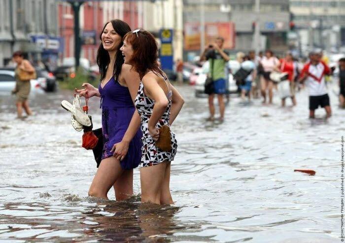 В Киеве был потоп (8 фото)