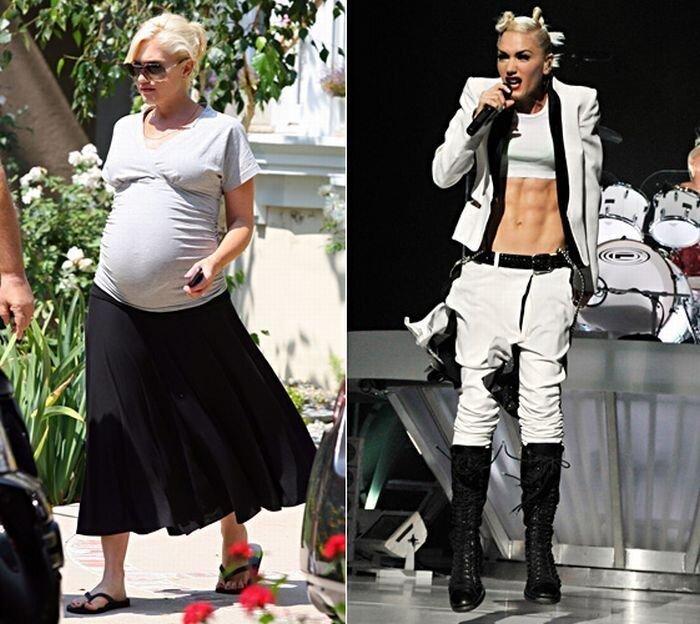 Голливудские знаменитости до и после родов (36 фото)