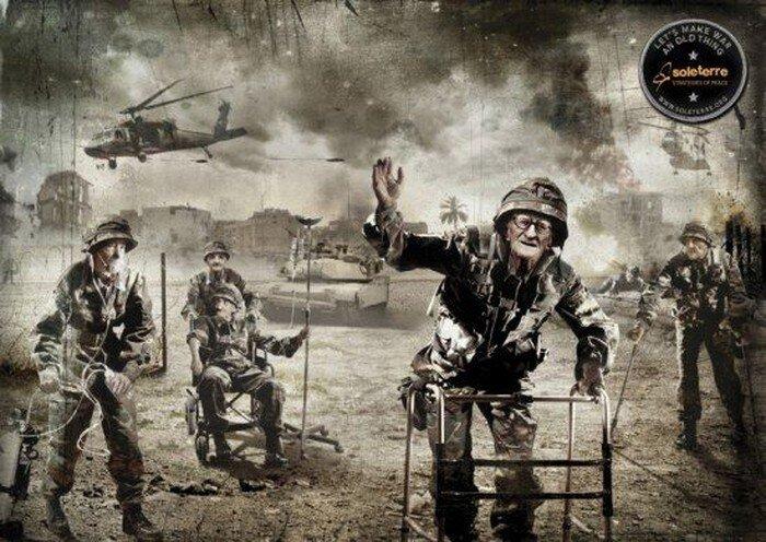 Давайте сделаем войну старой вещью (3 фото)