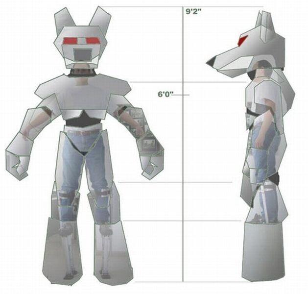 Классный костюм робота (15 фото)