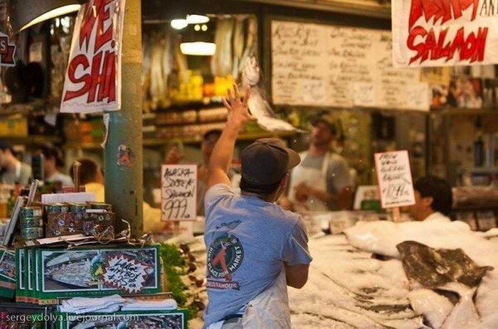 Рыбный рынок Сиэтла  (33 фото)