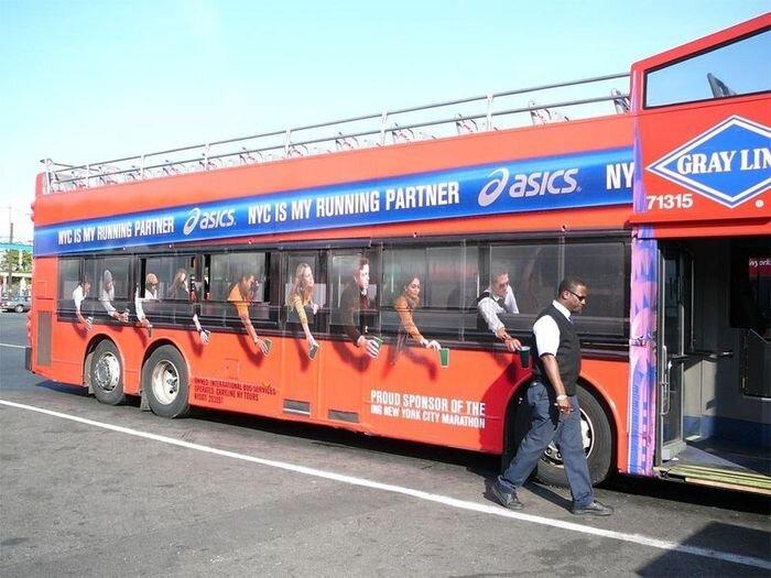 Креативная реклама на автобусах (58 фото+видео) за 22 июля 2010