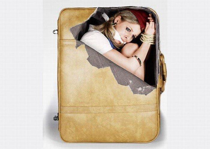 Наклейки на чемоданы (4 фото)
