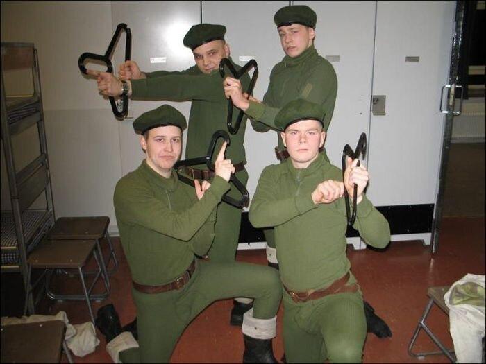 Финская армия и их трудовые будни (8 фото)