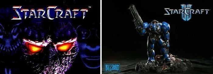 Какая же разница между Starcraft и Starcraft 2? (2 картинки)