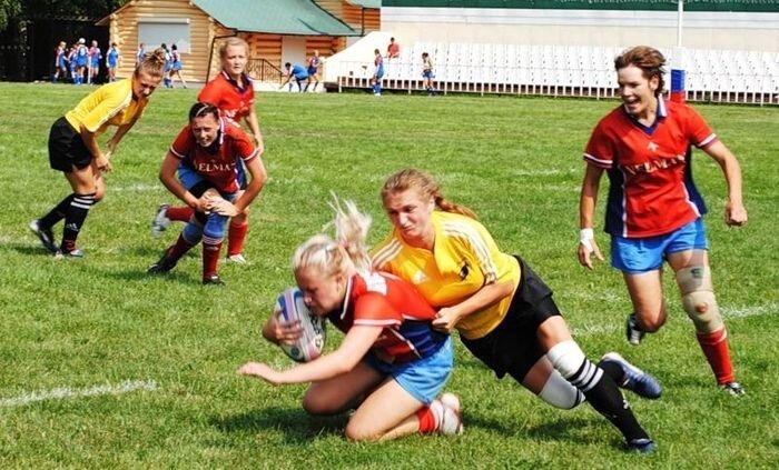 Чемпионат России по регби среди женщин (40 фото)